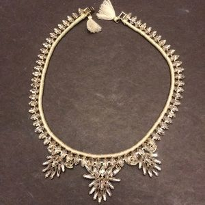 Statement crystal necklace by J Crew
